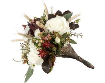 Bridal Bouquet Holder, Bronze Wedding Bouquet Handle, Create Your Own Bouquet for the Bride or Bridesmaids