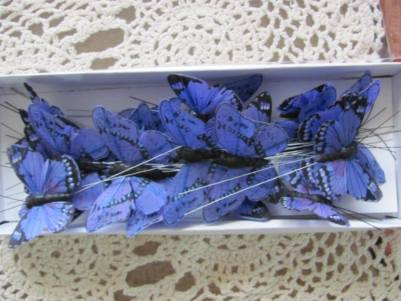 25 Butterflies, Craft Butterflies, Purple Blueish Tint Butterflies, Wedding Favor Butterflies, Bridal Shower Favor Buterflies