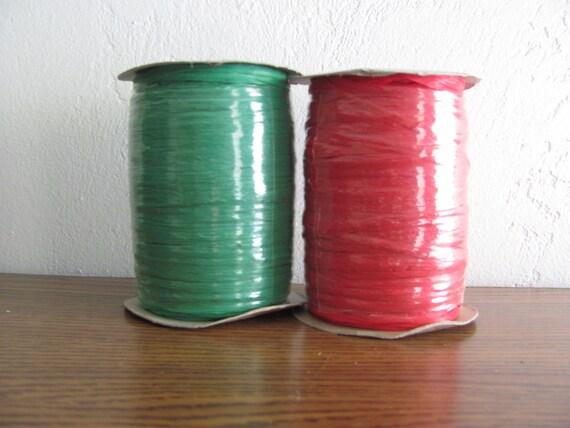 Christmas Wraphia Ribbon, Christmas Red Wraphia Ribbon, Christmas Green Wraphia Ribbon, Paper Craft Ribbon, Christmas Wrapping Ribbon