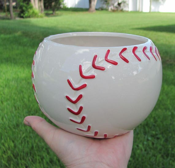 2 Baseball Planters Party Centerpiece Containers Ideal for Planting Flowers or Creating Sports Party Centerpieces