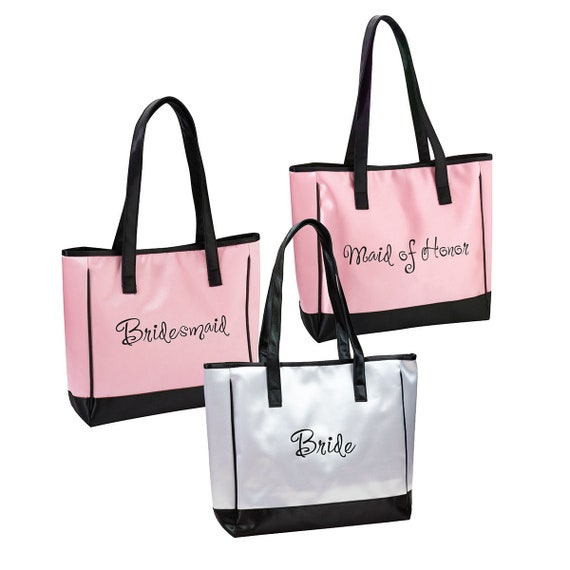 Bridesmaids Shopping Bag, Bridesmaids Favor Bags, Gift Bags for Bridal Party, Maid of Honor Gift Bag, Wedding Shopping Spree Statement Bags