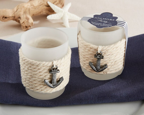 Anchor Wedding Favors, Anchor Votive Holder Favor, 24 Practical Wedding Favors, Nautical Party Favors, Anchor Away Votive, Reception Favors