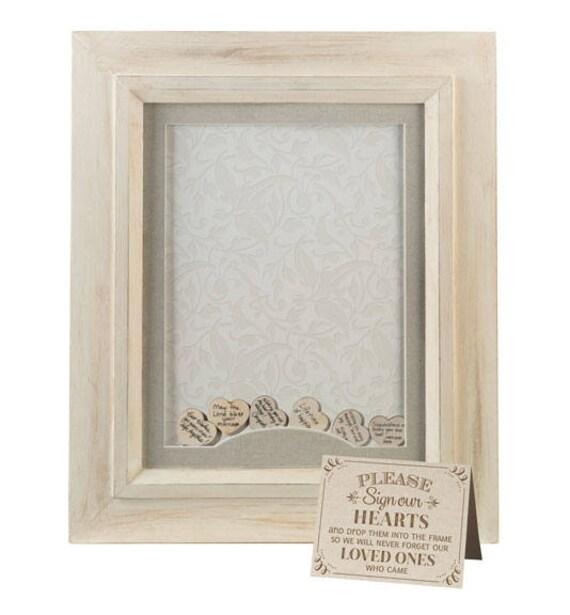Rustic Wedding Shadow Box, Wedding Guest Book Frame, Wood Wedding Keepsake Frame