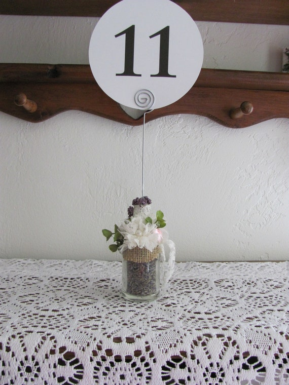 Table Number Holders, Wedding Event Party Number Holders, Hand Decorated Bottle, Wedding Decorations, Number Holders, Photo Holder