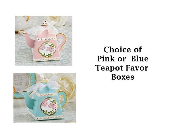 Paper Favor Boxes, Bridal Shower Favor Boxes, Tea Party Favor Boxes, 24 Party Favor Boxes, Bridal Shower Boxes, Tea Party Goodie Boxes