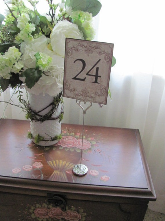 Wedding Card Holder, Table Number Holders, Reception Holders, Heart Stand , Holders for Event Signs, Wedding Stationery Table Number Holder
