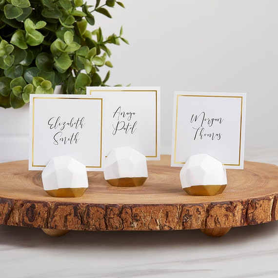 Geo Wedding Event Place Card Holders, Place Cards and Holders, Modern Place Card Holders, Party Supplies, Reception Card Holders