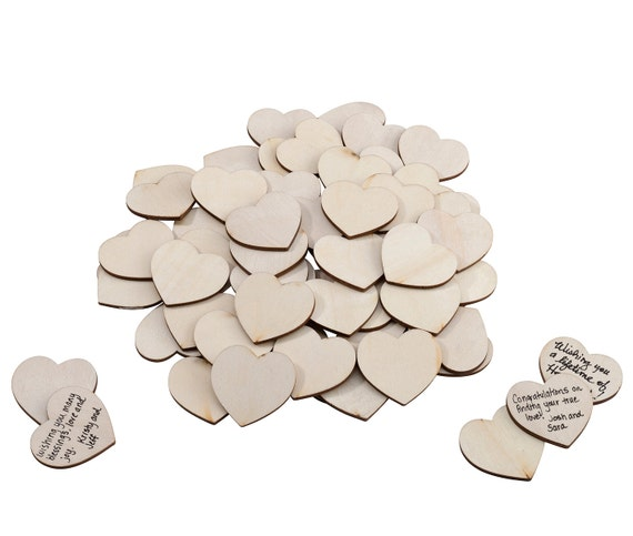 Wedding Hearts, Wedding Guest Signing Hearts, Wooden Hearts, Wedding Craft Hearts, Wooden Hearts for Wedding Projects or Valentines Day