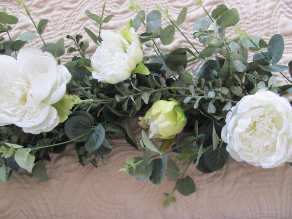 Wedding Garland, Eucalyptus Garland, Boxwood, Wedding Decorations, Mixed Garland,Centerpiece Garlands, Artificial Garlands, Mantle Garland