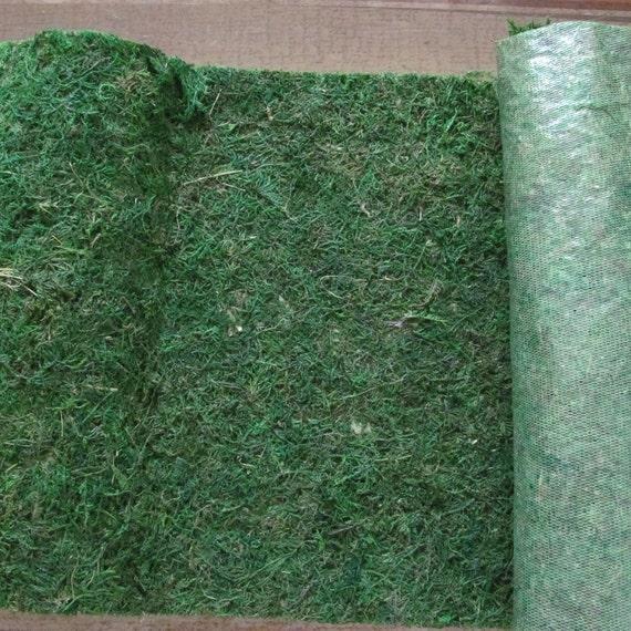 Preserved Moss Runner, Moss on Soft Mesh Backing, Craft Moss, Moss Centerpiece Table Runner, Decorative Moss