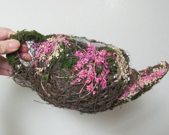 Teapot Floral Basket , Teapot Flower Holder, Teapot Basket container