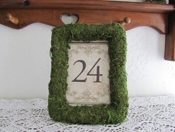 Table Number Holders, Moss Frame for Table Numbers, Wedding Sign Holder Frames, Moss Number Card Frame, Moss Table Number Frames