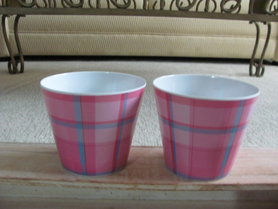 Pink Party Containers, 10 Party Containers, Easter Flower Pot Covers Containers, Plastic Party Bucket