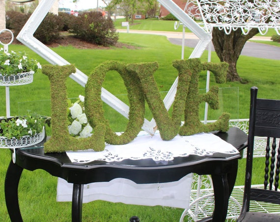 Moss Letters, Wedding Letters, Moss Wedding Letters, Floral Supplies, Moss Craft Letters