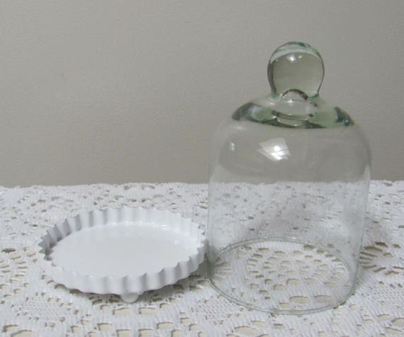 Craft Jars, Party Dome Bell Jars, Miniature Glass Bell Jar Fluted Base Ideal Creating Wedding Table Decorations or Food Favors at Parties