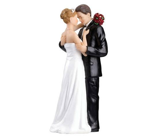 Wedding Cake Top, Bride and Groom Cake Topper, Romantic Wedding Cake Topper