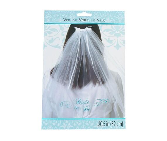 Bridal Shower Bride to Be Veil, Little Girl Bride Dress Up Veil, Bridal Shower Party Veil Prop