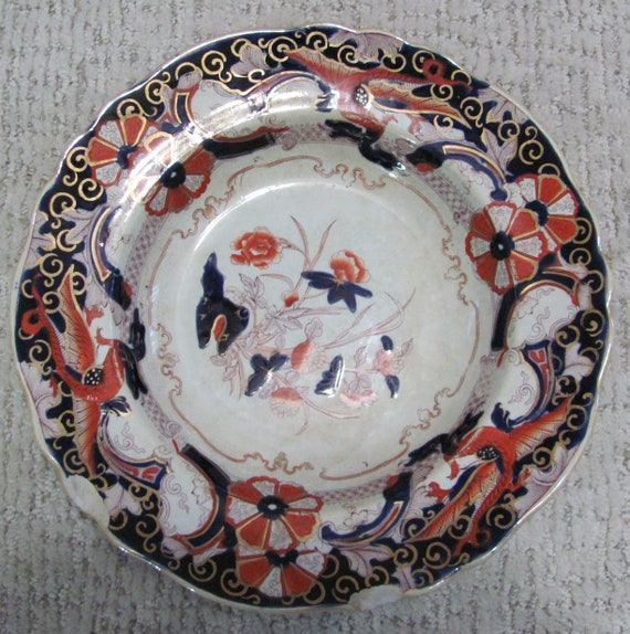 Broken Stone China Bowl Ideal for Jewelry Making, Imperial Stone China Bowl, Belisarius Stone China, Stone China for Jewelry Making,
