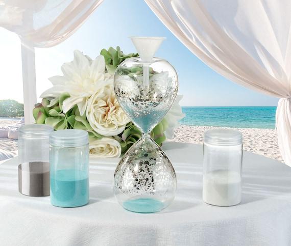 Wedding Unity Ceremony Container, Wedding Unity Hour Glass Sand Kit, Sand Marriage Ceremony Vase Hour Glass Kit