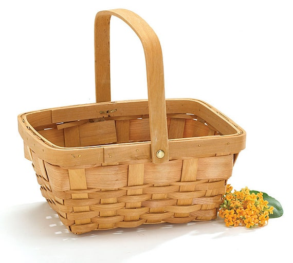 Wood Baskets with Handle and Liner Ideal for Creating Your Own Floral Arrangements for Weddings and Home Decor
