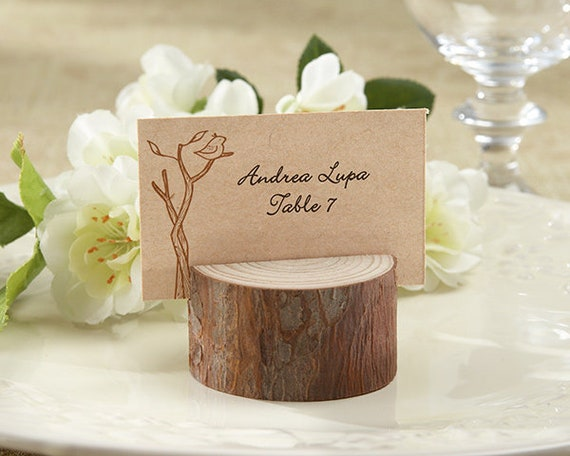 Rustic Log Place Card Holders, Favors, Wedding Favors, Card Holders, Rustic Event Party Favors