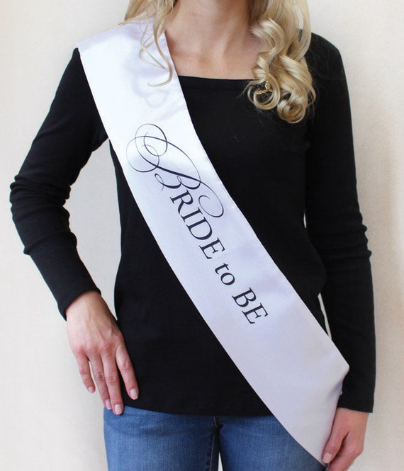 Bride to Be Party Sash, Bridal Shower Supplies, Bride to Be Party Supplies