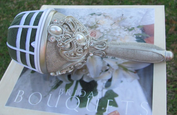 Bridal Bouquets Holders, DIY Bride Bouquet Handle, Bride Making Her Own Bridal Bouquet and/or Her Bridesmaids Wedding Bouquets
