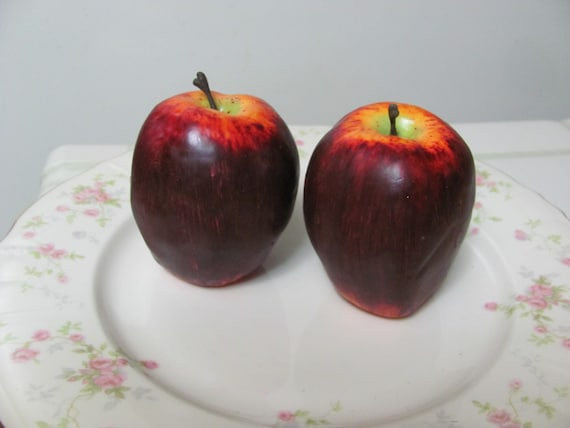 2 Artificial Apples, Craft Apples, Floral Supples, Craft Supplies, Artificial Fruit