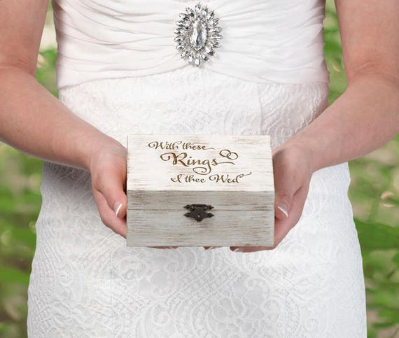 Rustic Wedding Ring Box, Wedding Ring Boxes, Ring Box, Wedding Ring Ceremony Ring Box