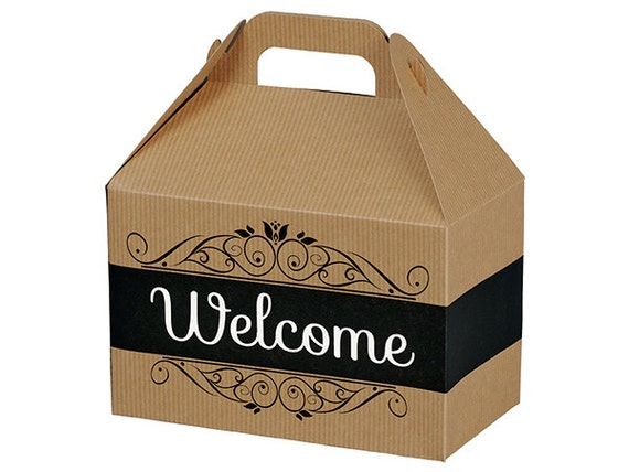 Wedding Welcome Boxes,Wedding Guests Gift Boxes for Travelers Hotel Room Greetings Fill with Your Own Comfort Drink and Food