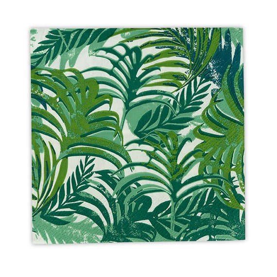 Tropical Party Napkins, Tropical Cocktail Napkins, Tropical Wedding Cake Napkins, Tropical Party Napkins, Beverage Size Party Napkins