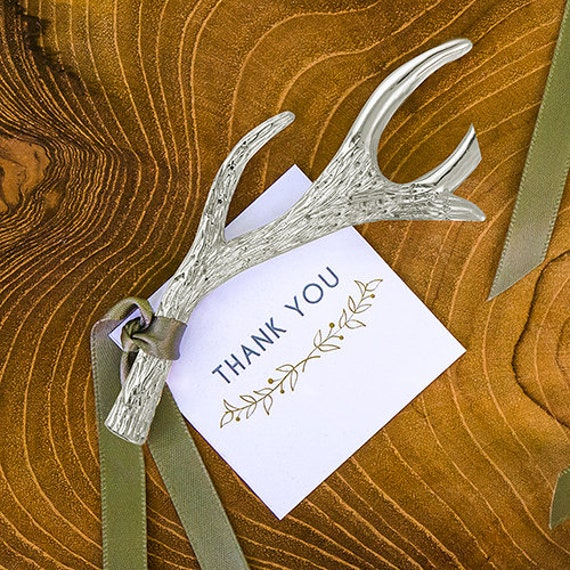 Bottle Opener Favors, Antler Wedding Favors, Wedding Party Favors, Rustic Party Favor, Winter Party Favors, Christmas Party  Favor