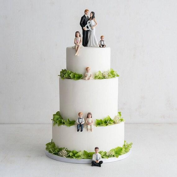Baby Girl Porcelain Figurine Wedding Cake Topper, Baby Girl or Baby Boy Cake Topper, Wedding Cake Topper, Family Wedding Cake Tops