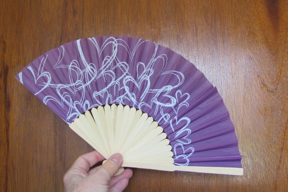 Party Favor Fans, Wedding Fan Favors, Party Fans, Floral Embellishments, Party Decorations, Wedding Decor, Contemporary Hearts Fan