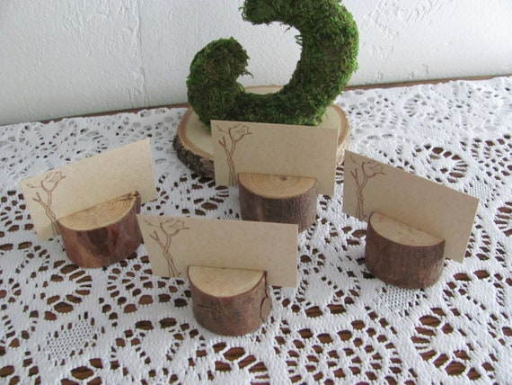 Rustic Wedding Place Card Holders, Wood Place Card Photo Holder Favors, Wedding Favors, Card Holders, Rustic Event Party Favors
