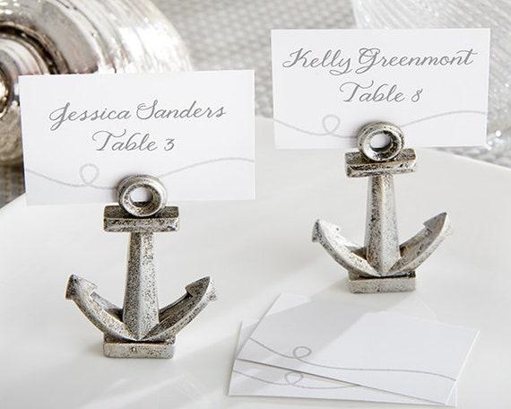 Anchor Wedding Favors, Anchor Place Card Holders, Nautical Party Favors, Place Card Holders, Photo Holders, Beach Ocean Event Favors