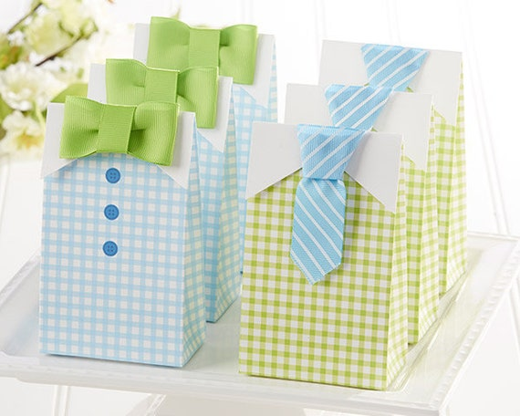 Baby Shower Favor Bags, 12 Baby Boy Button Down Shirt Candy Bags, Candy Favor Bags, Baby Boy Party Favor Bags