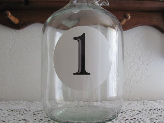 Wedding Table Number Clings, Round Table Number Decals, Reception Table Numbers