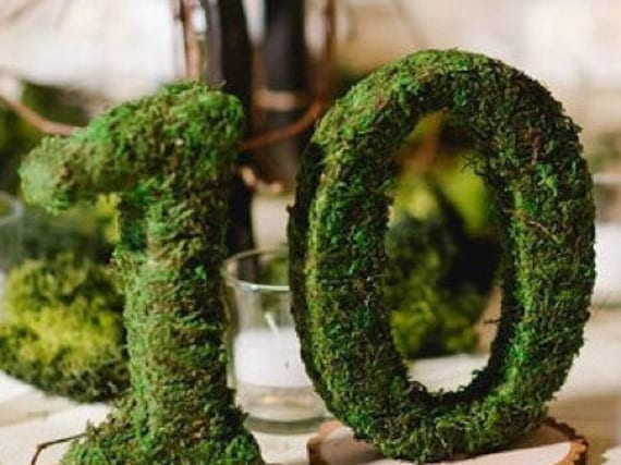 Table Numbers, Moss Numbers, Woodland Wedding Table Decor, Wedding Table Numbers, Event Table Numbers, Reception Table numbers