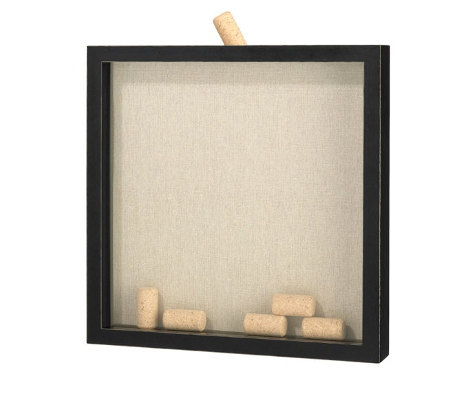 Wedding Guest Book Alternative Kit Wine Corks And Shadow Box Frame