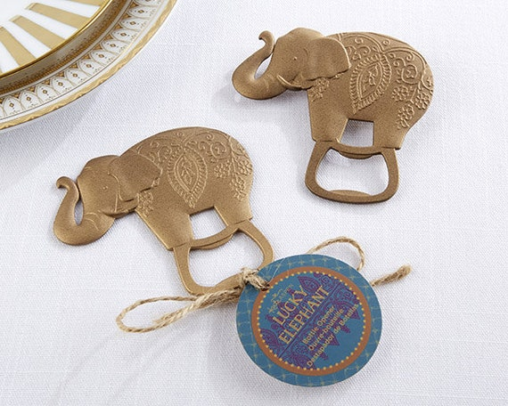 Party Favors, 12 Bottle Opener Favors, Lucky Elephant Bottle Opener Party Favors, Wedding Favors, Guest Favors