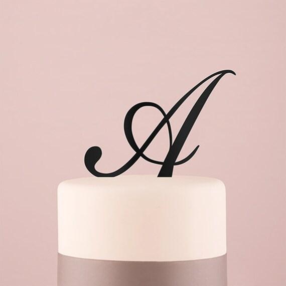 Wedding Cake Letters, Wedding Cake Top Monogram, Wedding Cake Letter Picks, Cake Monogram Script Initials, Wedding Cake Top Decorations