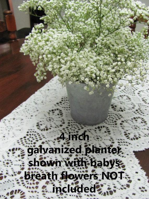 8 Wedding  Flower Pots, Tin Flower Pots, Galvanized Tin Pot, Flower Pots, 4 Inch Tin Flower Pot, Planter, Table Decor Flower Pot
