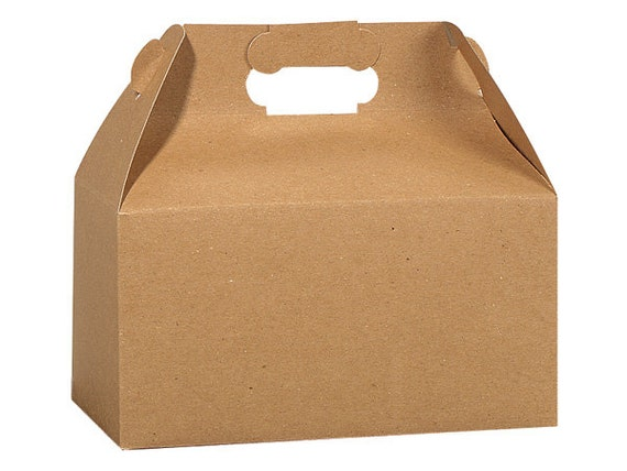 20 Brown Gable boxes, Boxes for Gifts and Baked Goods, Craft Boxes