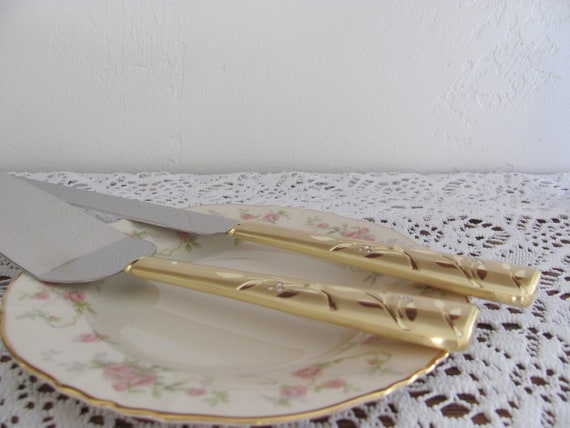 Cake Serving Set, Venice Gold Wedding Cake Knife and Server, Wedding Cake Knife, Wedding Cake Server Sets, Wedding Cake Cutting Cutlery