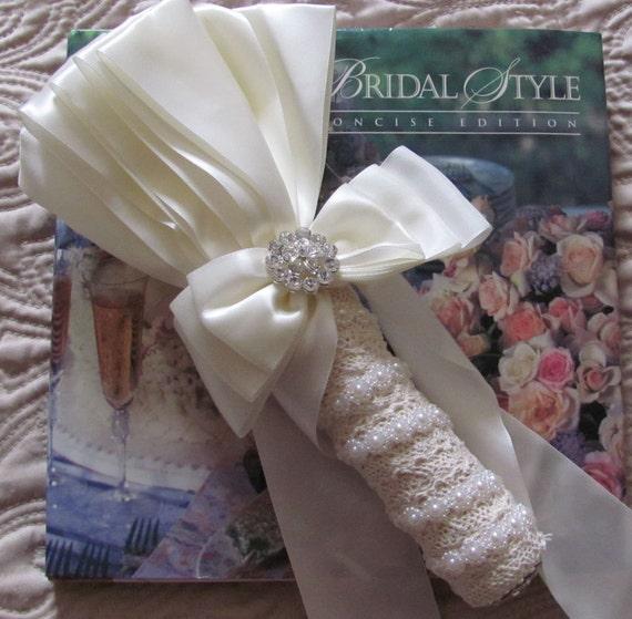 Bridal Bouquet Handle, Wedding Bouquet Holder, DIY Bouquet Holder Includes Flower Holder Insert, Ivory Bouquet Handle or White Bridal Holder