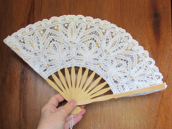 Lace Craft Fan, Lace Bridal Fan, Bride Photo Props, Lace Centerpiece Fans, Bridal Shower Fan Favors