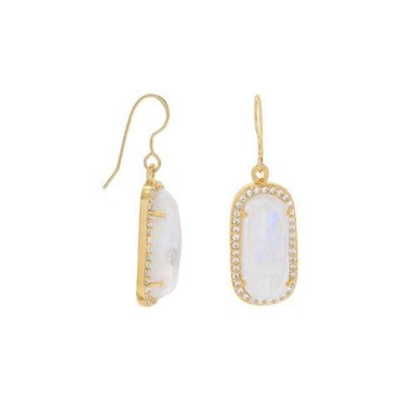 Earrings, Rainbow Moonstone Earrings, Pierced Earrings,