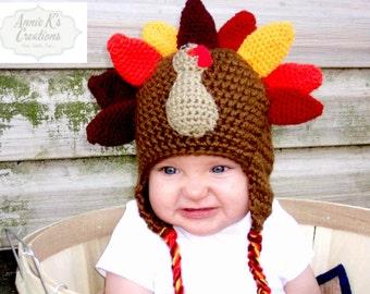 Gobble Gobble Turkey Hat - Adorable Shower Gift 5957b59071bc