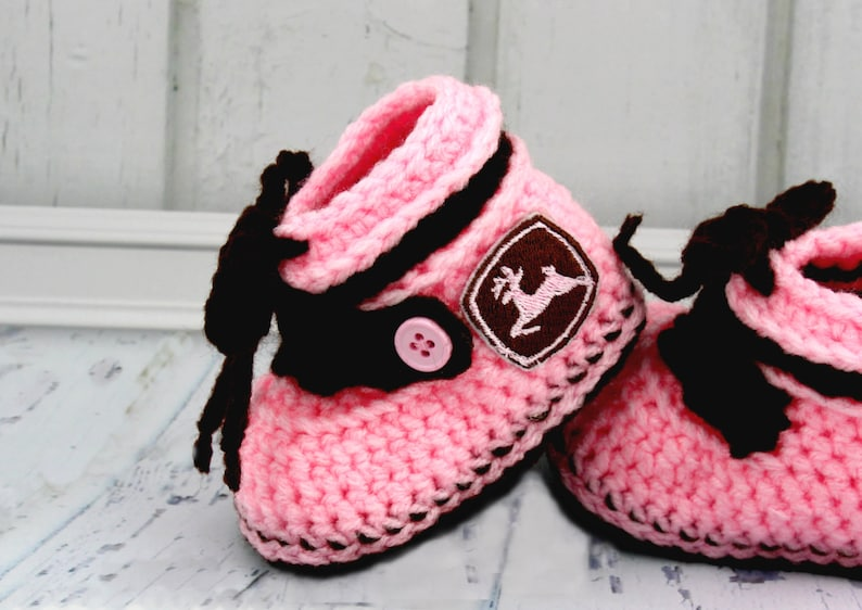 a3bcdfae79195 Baby Work Boots - Newborn Girl Boots - Baby Girl Shoes - Newborn Booties -  Newborn Shoes - Crochet Booties - Crochet Baby Shoes